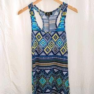 Cotton summer maxi dress, size M